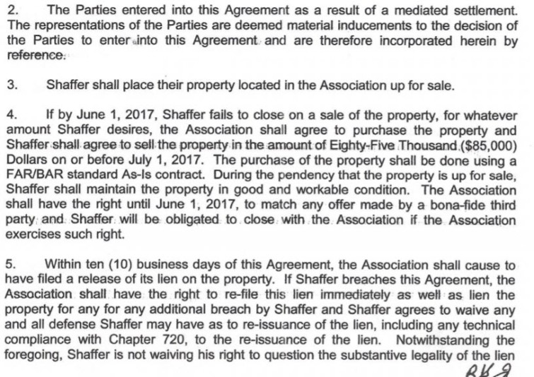 Hoa Agreement Of 11 1 16 Violated Or Not Violated Now Important